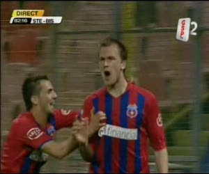Golul meciului Steaua - Gloria Bistrita 1 - 0