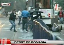 Caini spurcati batuti in fata stadionului Dinamo