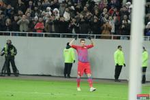 Mihai Costea, la primul gol pentru Steaua din 14 aprilie, de la victoria de la Galati, scor 2-1