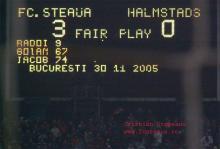 Steaua-Halmstads 3-0