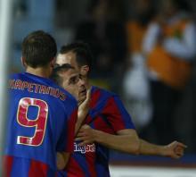 Arman Karamian la primul gol pentru Steaua.