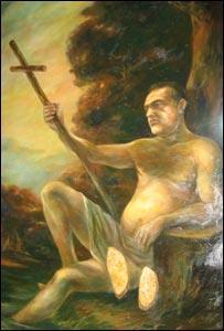 Becali in chip de Sf Ioan