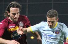 CFR - Steaua 0 - 1. Ros-albastrii castiga in ultimele minute la Cluj