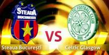 Primul meci din istorie dintre Steaua si Celtic