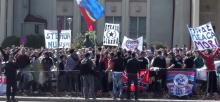 Protest anti Becali